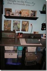 left side of desk